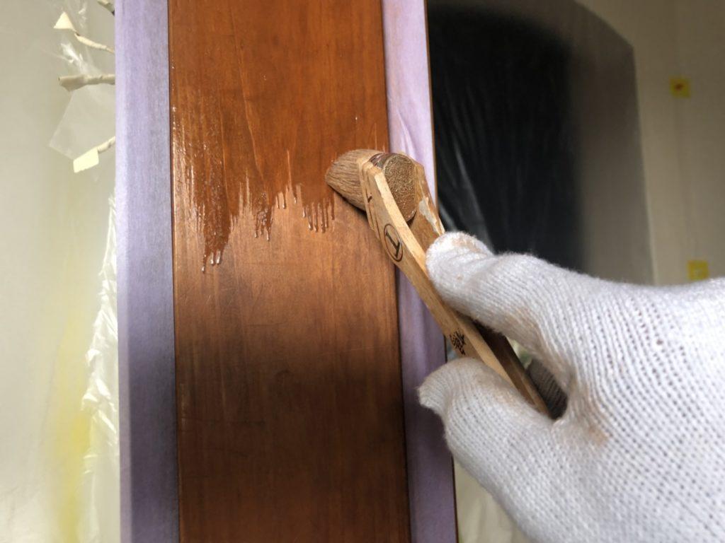 内装木枠塗装
