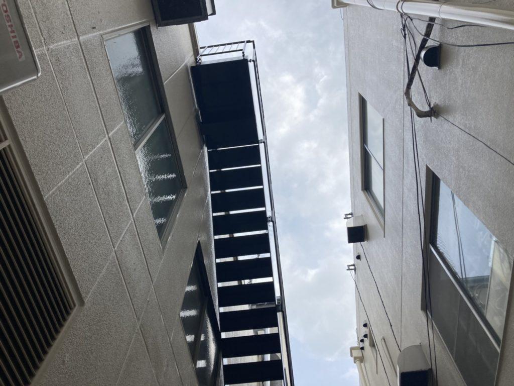 鉄骨階段塗装&補強工事