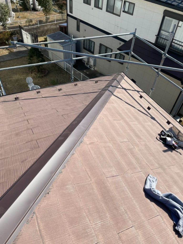 屋根棟板金工事